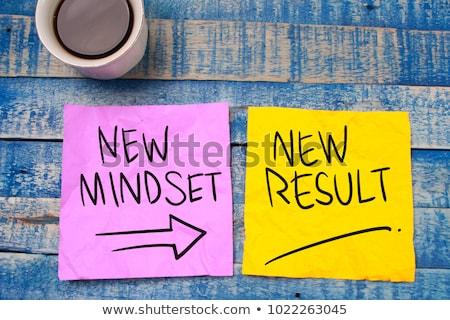 Denken positive motivierend Tafel Glauben Tafel Stock foto © stevanovicigor