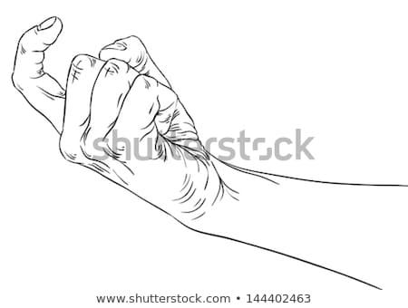 Kadın burada güzel bir kadın parmak birisi Stok fotoğraf © piedmontphoto