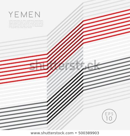 flag of Yemen themes idea design Stock photo © kiddaikiddee