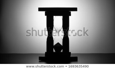 Eski ahşap kum saati beyaz yalıtılmış saat Stok fotoğraf © taviphoto