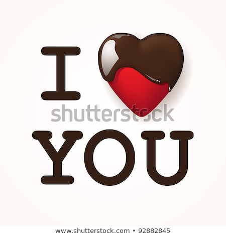 I love you, written with chocolite. Vector illustration. Stock photo © sdmix