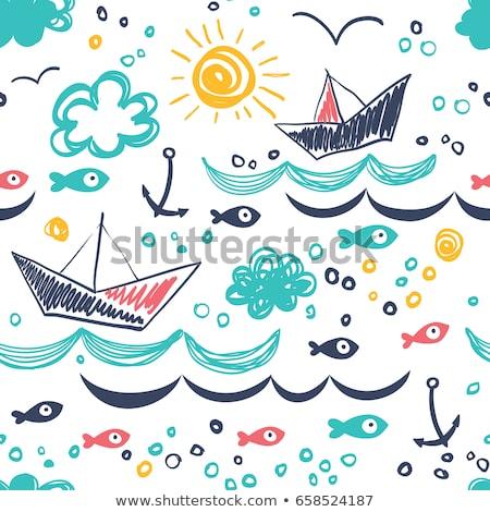 Golfinho golfinhos sem costura projeto lápis Foto stock © mcherevan
