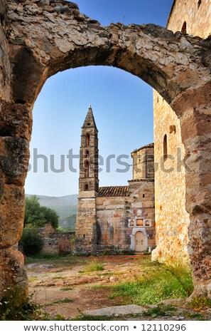 Rurale greco chiesa ingresso montagna alberi Foto d'archivio © ankarb