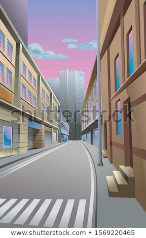 sunlit skyscraper Stock photo © tracer