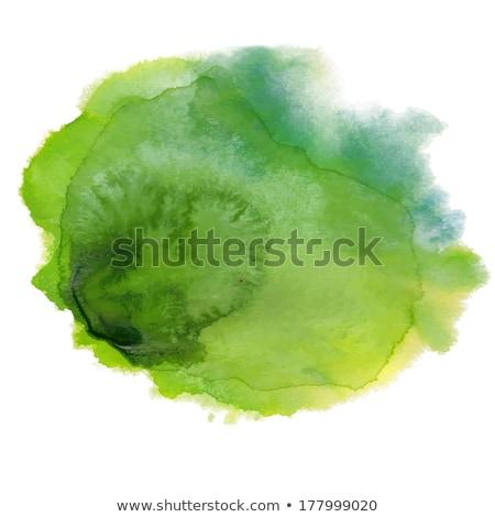 Foto d'archivio: Verde · acquerello · spot · acqua · carta · abstract