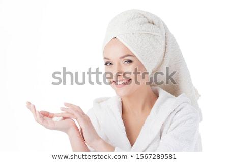 Donna doccia crema faccia Foto d'archivio © juniart