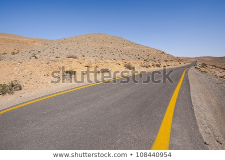 Asphalt Road above Grand Crater in Negev Desert Stock photo © Zhukow