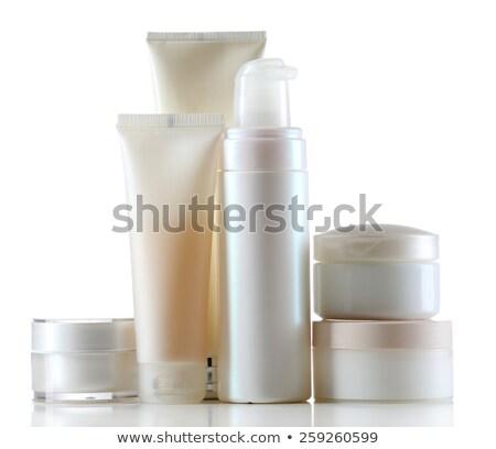 Sok kozmetika izolált fehér rózsa divat Stock fotó © tetkoren