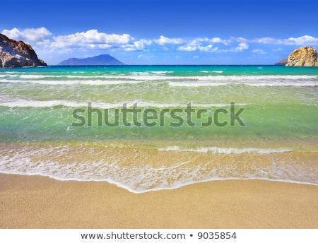 ビーチ 海岸線 ギリシャ語 島 岩 ストックフォト © ankarb