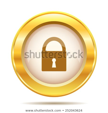 Stock photo: Unlock Golden Vector Icon Design