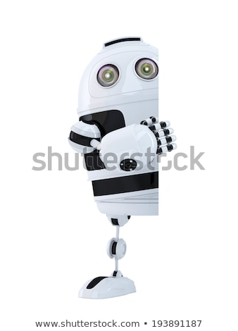 3D robot banner odizolowany biały Zdjęcia stock © Kirill_M