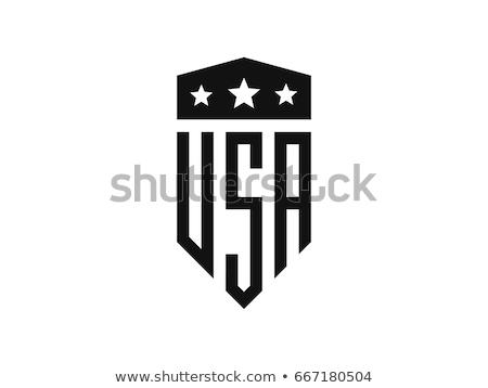 USA kék csillag bélyeg Amerika fóka Stock fotó © kiddaikiddee