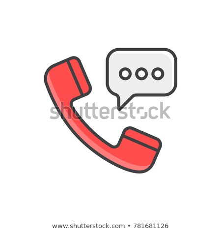 téléphone · tube · blanche · 3D · rendu · image - photo stock © alsos