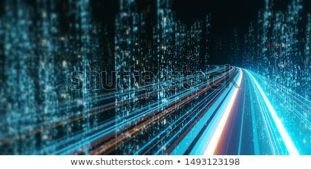 двоичный · код · туннель · данные · передача · цифровой · интернет - Сток-фото © shawnhempel