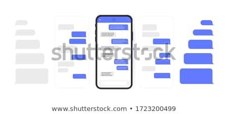 Phone Message. Button Design. Stock photo © WaD