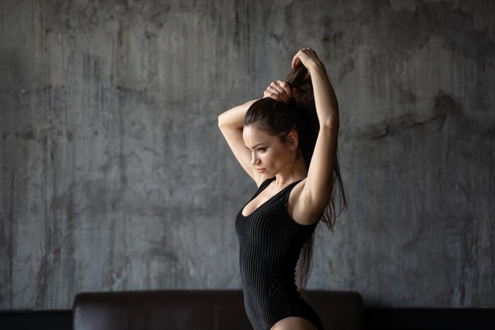 kadın · seksi · poz · yalıtılmış · beyaz - stok fotoğraf © deandrobot