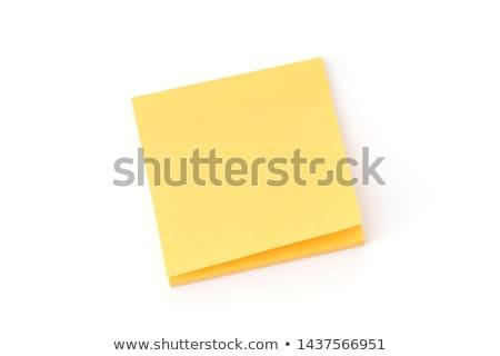 Citromsárga öntapadó jegyzet árnyék tükröződés fehér üzlet Stock fotó © franky242