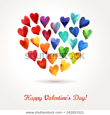 abstract artistic rainbow valentine background Stock photo © pathakdesigner