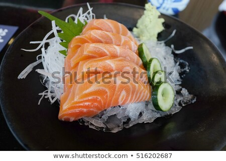 brut · blanche · poissons · sauce · fraîches · décoré - photo stock © dmitroza