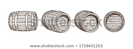 Stockfoto: Oude · houten · vat · geïsoleerd · witte · wijn