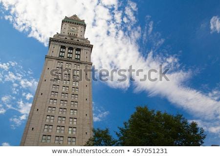 boston custom house tower in late evening stock photo © capturelight