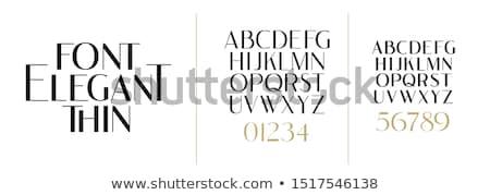 Betűtípus tipográfiai dekoratív betűtípusok barokk stílus Stock fotó © Vanzyst