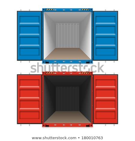 ilustração · 3d · recipiente · porta · isolado · metal - foto stock © cherezoff