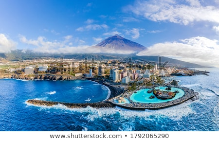 Aerial view of Tenerife with Teide Stock photo © benkrut