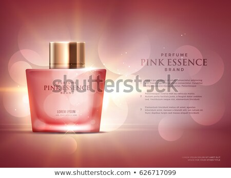 awesome perfume essence advertisement concept design template wi Stock photo © SArts