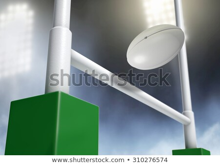 Rugby Posts Conversion Night Stock photo © albund