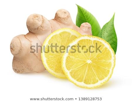 sliced ginger with lemon Stock photo © Digifoodstock
