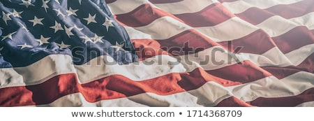 Dag vaderlandslievend star patroon achtergrond vlag Stockfoto © fresh_5265954