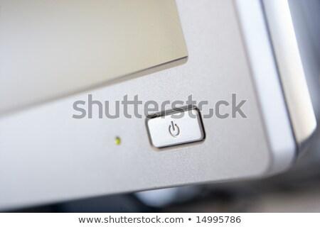 poder · botón · blanco · fondo · equipo · signo - foto stock © monkey_business