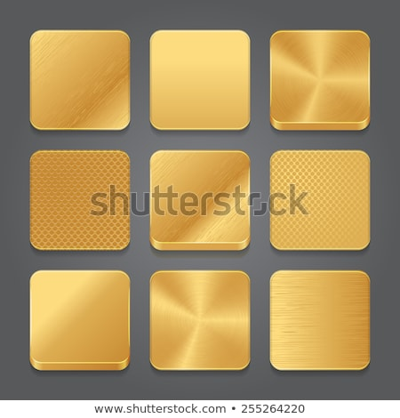 square gold plate stock photo © digifoodstock