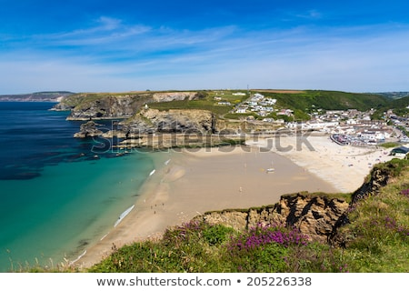 Portreath beach from western hill Stock photo © latent