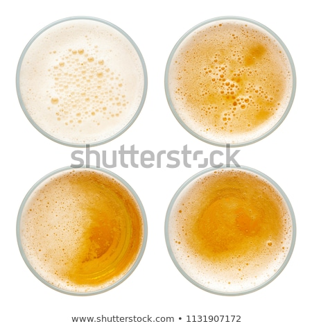empty beer glass top view stock photo © cipariss