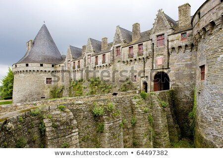 Chateau de Rohan, Pontivy, Brittany, France Stock photo © phbcz