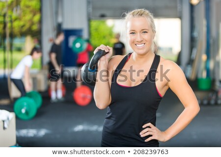Portrait heureux femme crossfit noir Photo stock © wavebreak_media