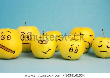Farklılıklar komik elma oyun çocuklar bulmak Stok fotoğraf © Olena