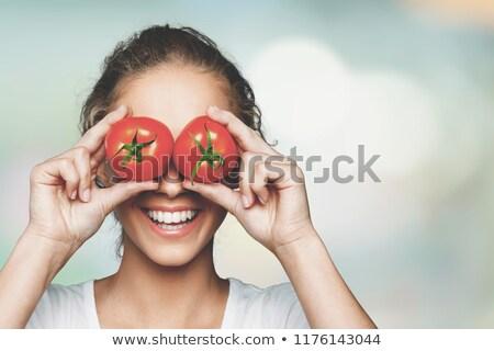 sağlıklı · domates · doğal · büyümüş · bahçe · meyve - stok fotoğraf © digifoodstock