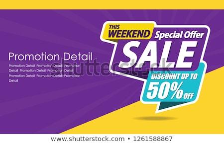super deal 50 percent off discount and big sale banner Stock photo © marinini