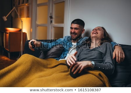 Couple laying on blanket Stock photo © IS2