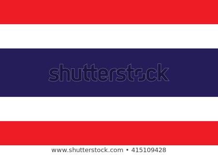 Thaiföld zászló fehér világ felirat kék Stock fotó © butenkow