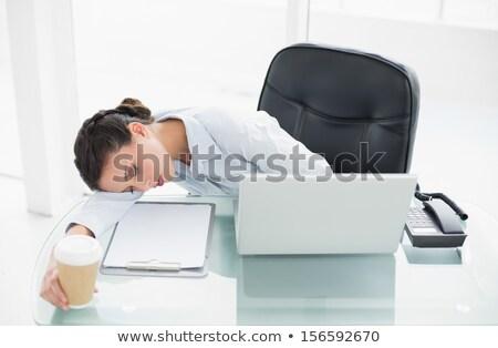 Yorgun işkadını uyku sandalye ofis iş Stok fotoğraf © wavebreak_media