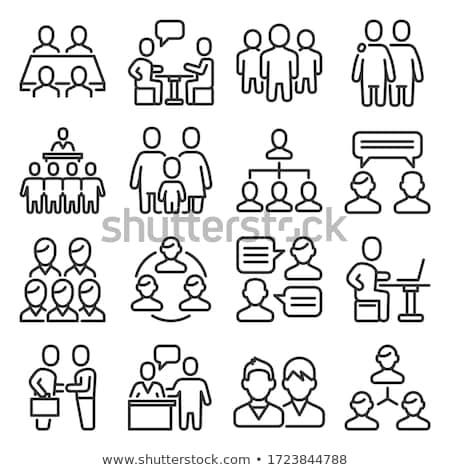 iş · hiyerarşi · işadamları · çalışmak · dizüstü · bilgisayarlar · grafik - stok fotoğraf © genestro