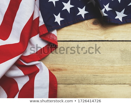 Patriotic Soldier American Flag Background  Stock photo © Krisdog