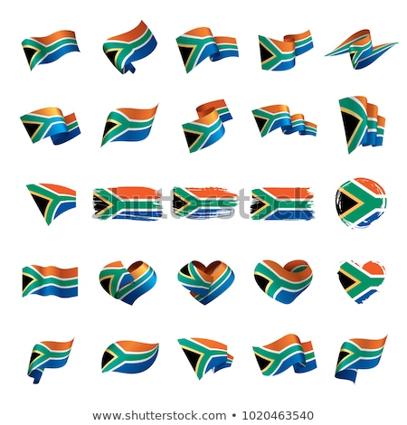 South Africa Flag isolated. South African ribbon banner. state s Stock photo © popaukropa