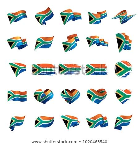 Afrique du Sud pavillon isolé afrique du sud ruban bannière Photo stock © popaukropa