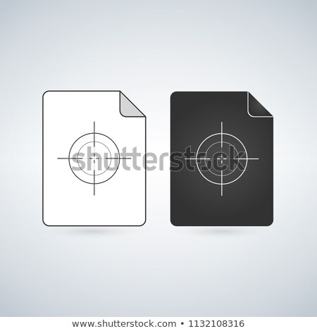 Document file vector icon with crosshair or target. flat sign for mobile concept and web design. Pap stock photo © kyryloff