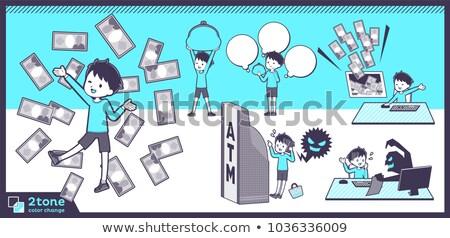 Kék ruházat 12 férfiak fiú Stock fotó © toyotoyo